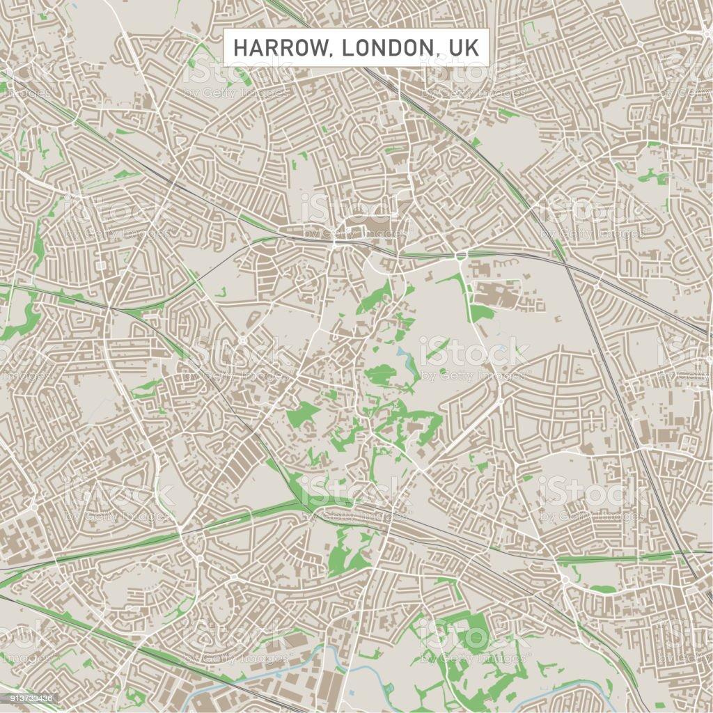 harrow london uk city street map royalty free harrow london uk city street map stock
