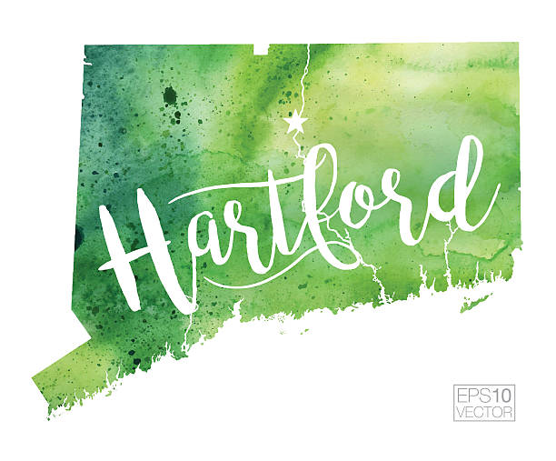 Hartford Clip Art Vector Images Illustrations IStock - Hartford usa map
