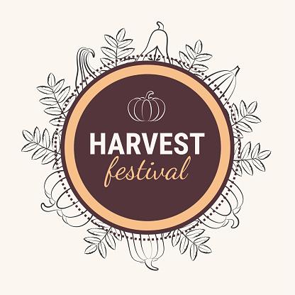 Harvest festival card template