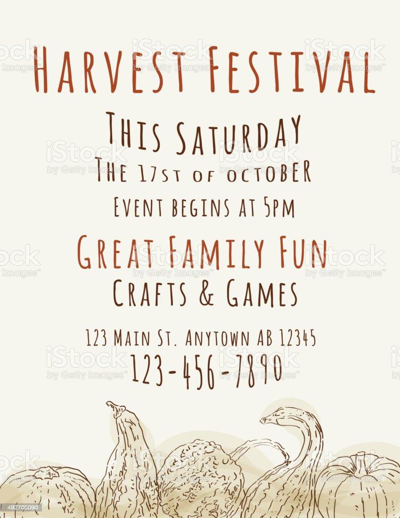 harvest festival flyer template stock vector art more images of