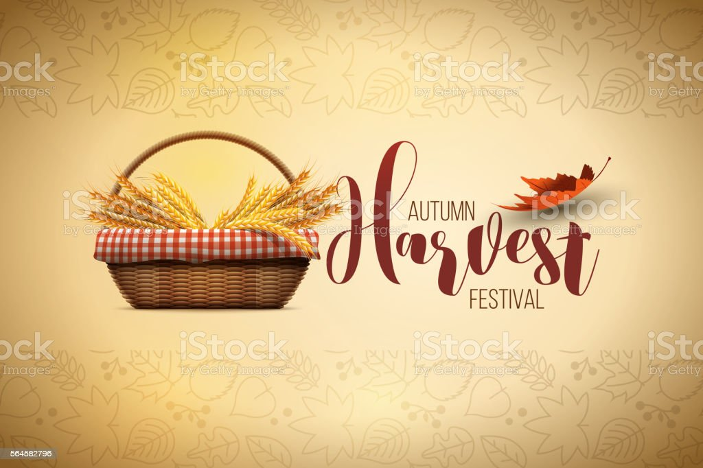 Harvest Festival Poster Design vector art illustration