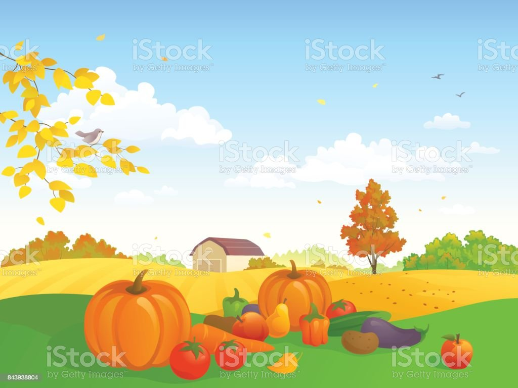 Harvest festival vector art illustration