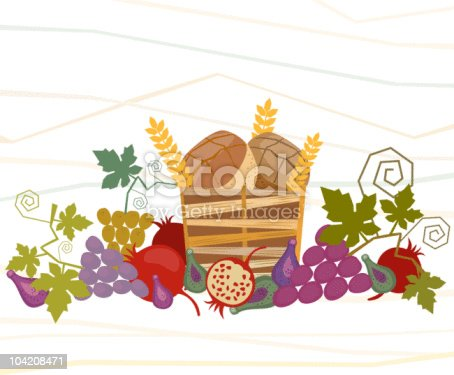 istock Harvest Of Fruit And Wheat 104208471