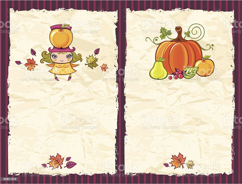 Harvest textured backgrounds royalty-free stock vector art