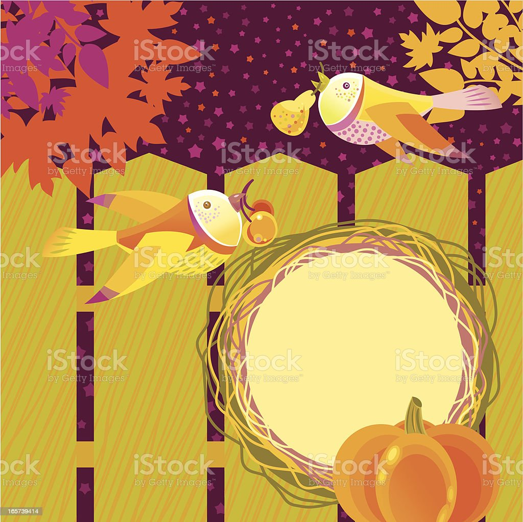 Harvest Time Birds royalty-free stock vector art