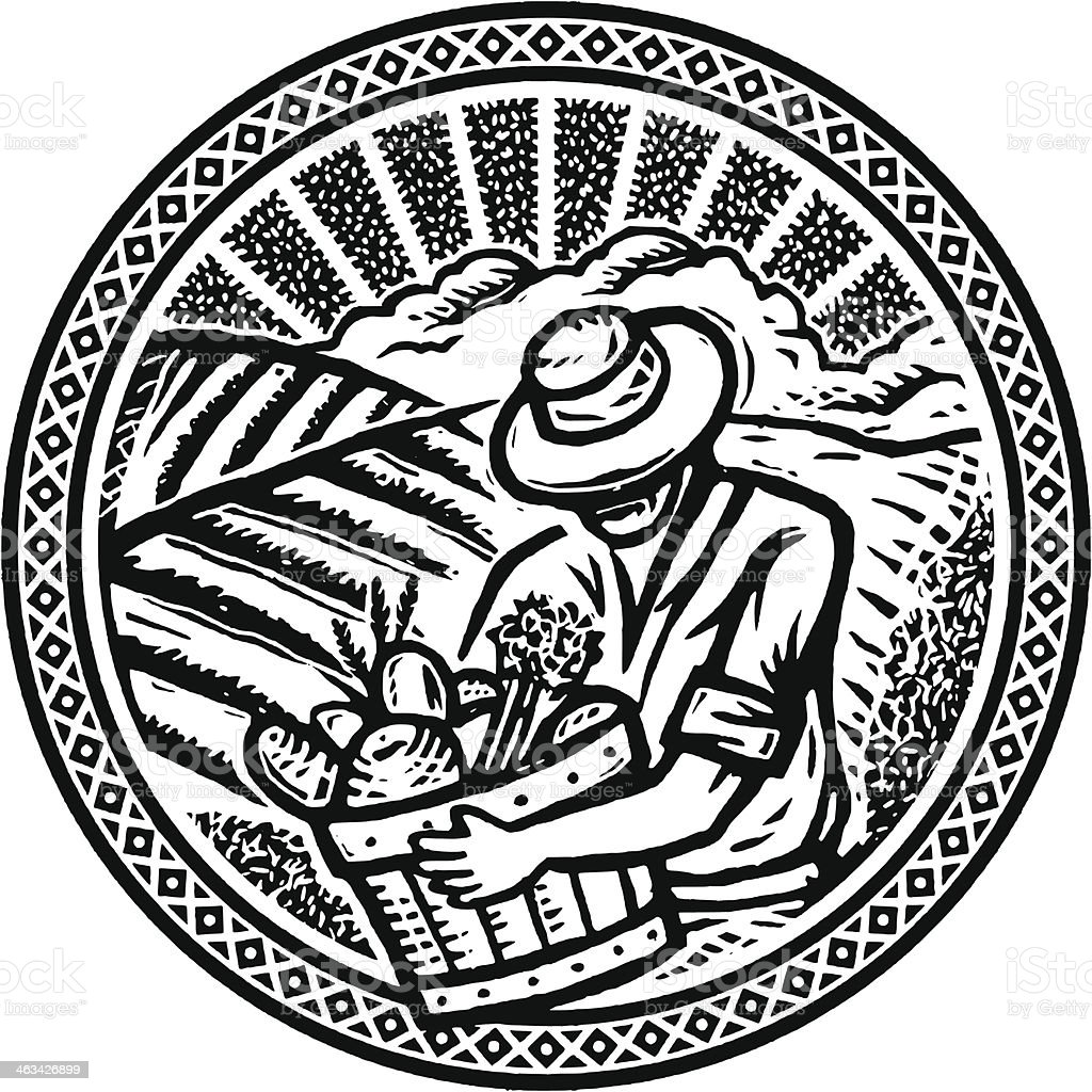 Harvest time vector art illustration