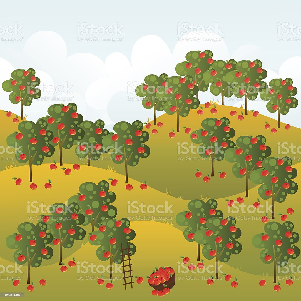 Harvest vector art illustration