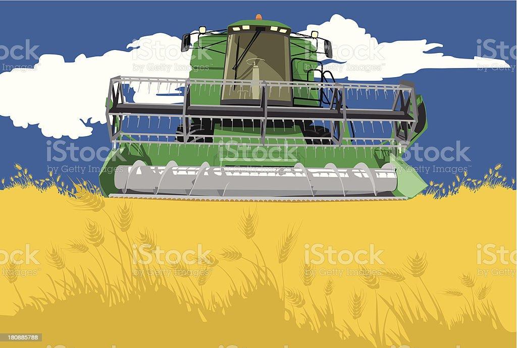 harvester royalty-free stock vector art