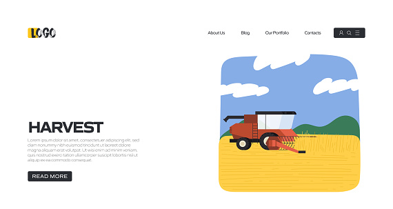 Harvesting Concept Vector Illustration for Landing Page Template, Website Banner, Advertisement and Marketing Material, Online Advertising, Business Presentation etc.