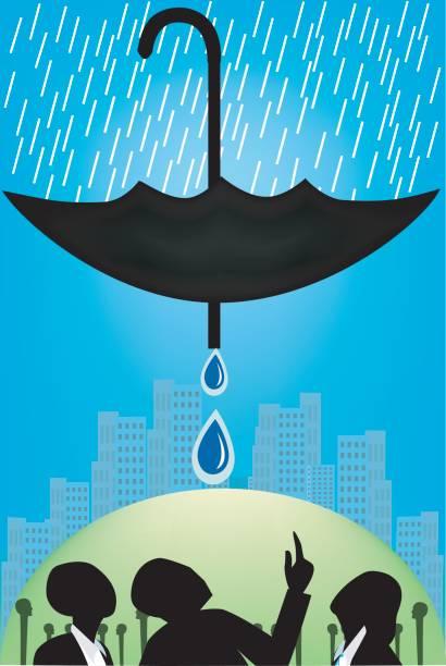 Best Rainwater Harvesting Illustrations, Royalty-Free Vector