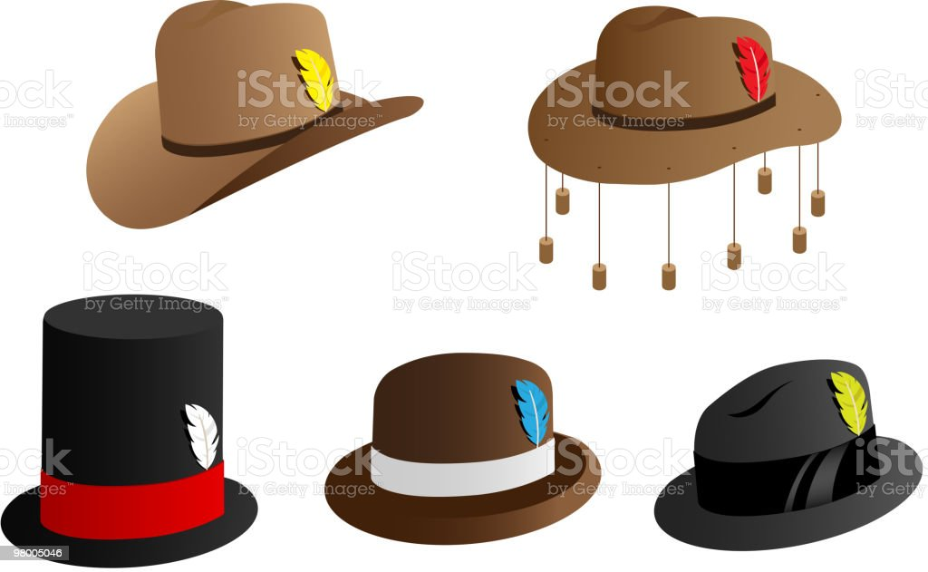 Hat icons vector art illustration