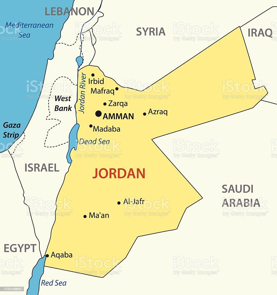 Haschemitischen Königreiches Jordanienvektorkarte Stock