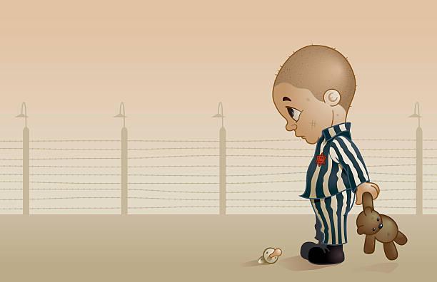 stockillustraties, clipart, cartoons en iconen met ha-shoah - alleen één jongensbaby