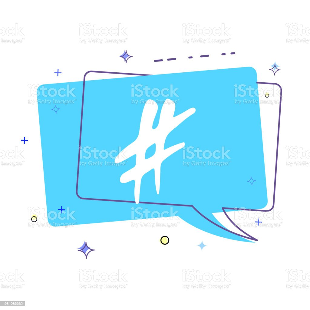 Hashtag sign. Vector illustration. vector art illustration