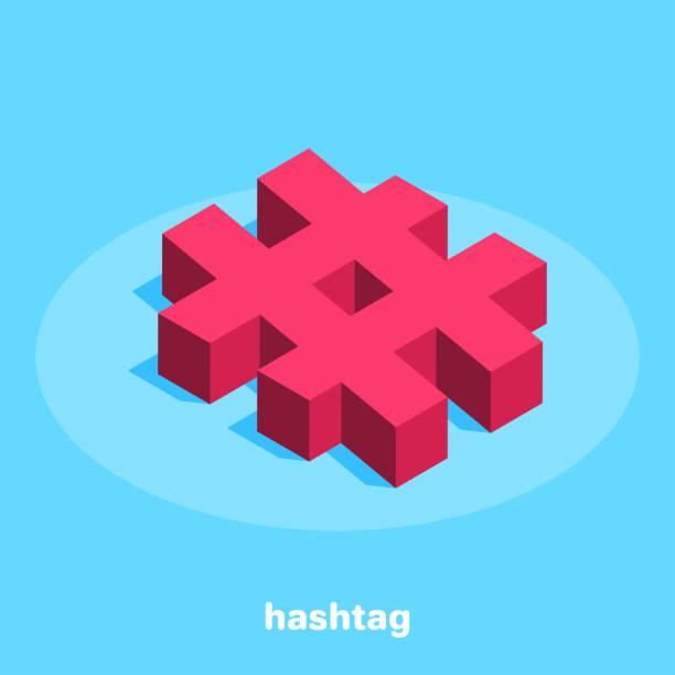 hashtag vector art illustration