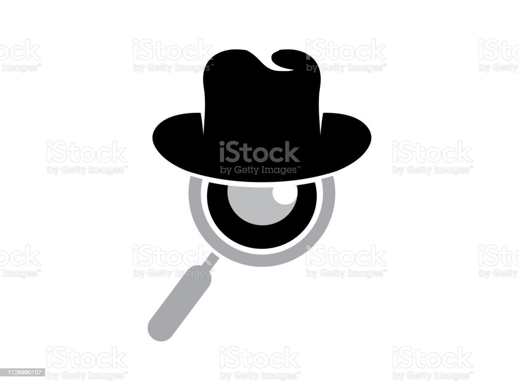hat and loupe for a detective spy logo design stock illustration download image now istock hat and loupe for a detective spy logo design stock illustration download image now istock