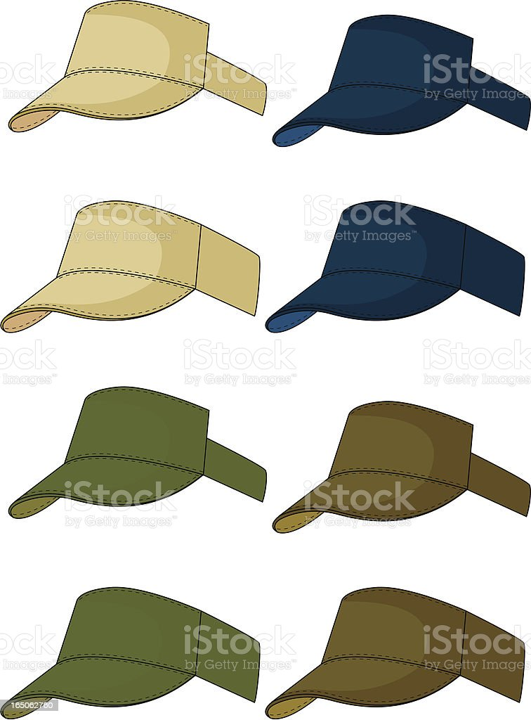 Hat, Cap, Visor royalty-free hat cap visor stock vector art & more images of adult