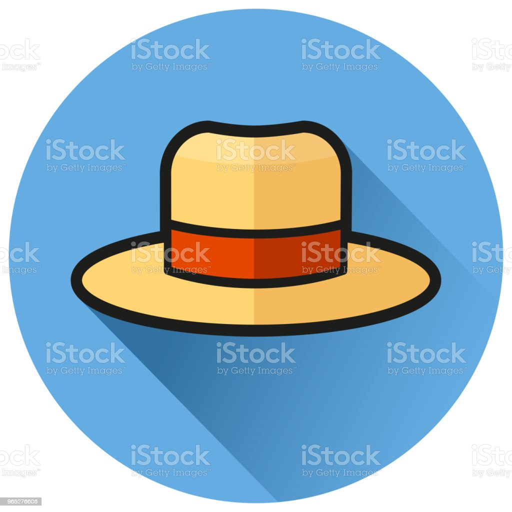 hat circle blue flat icon royalty-free hat circle blue flat icon stock vector art & more images of bowler hat