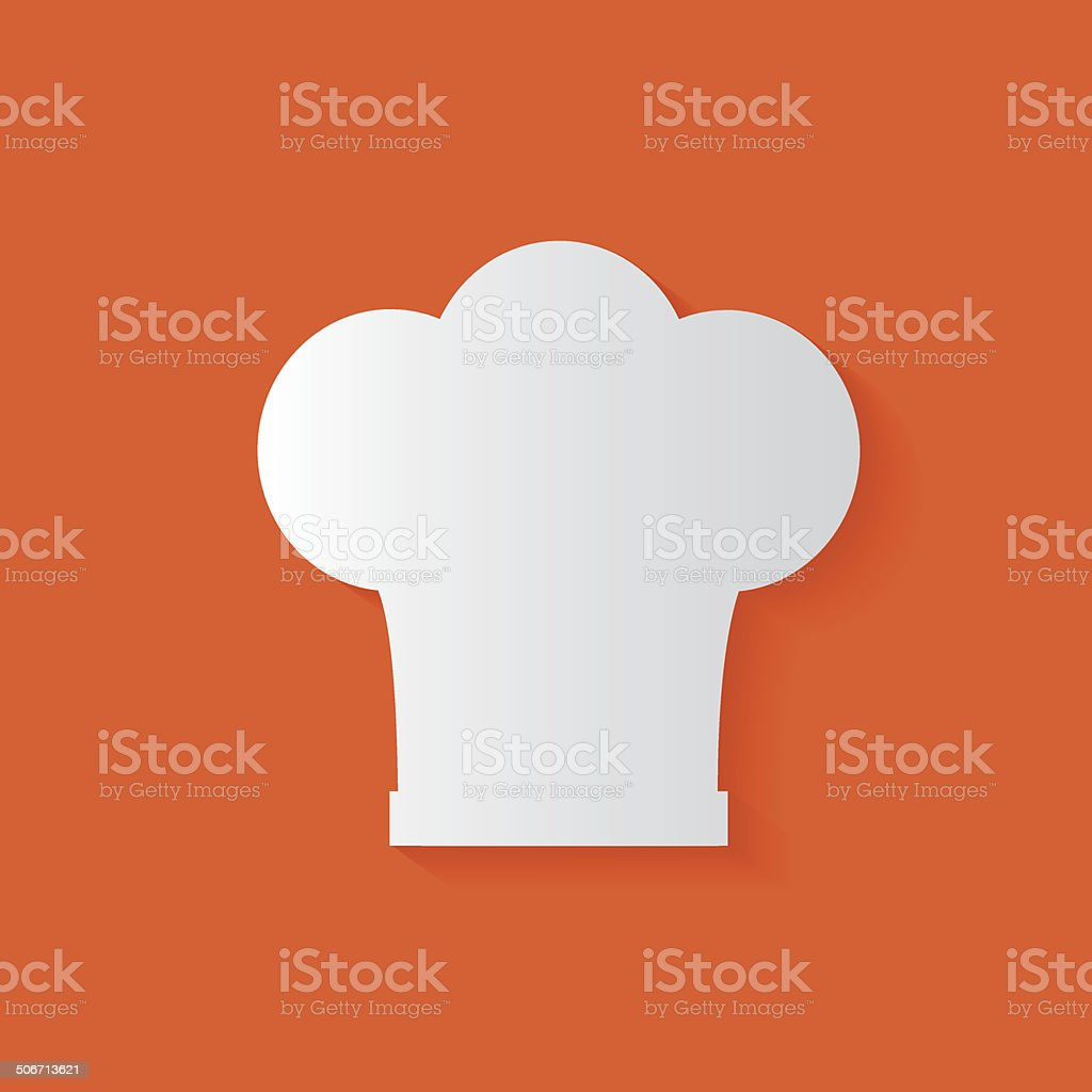 Hat cooking symbol,clean vector royalty-free stock vector art