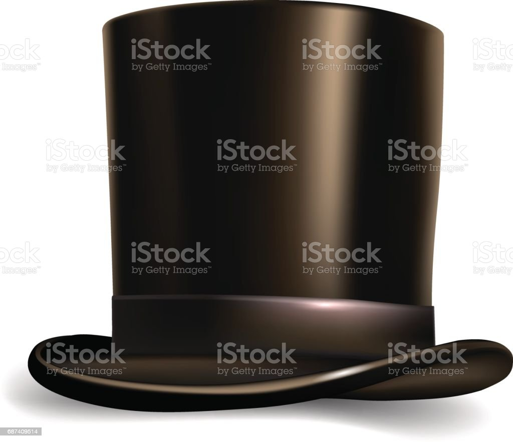 Hat cylinder isolated on white background.