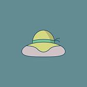 Hat Flat Design Gardening Icon