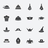 hat icon set.vectorillustration.