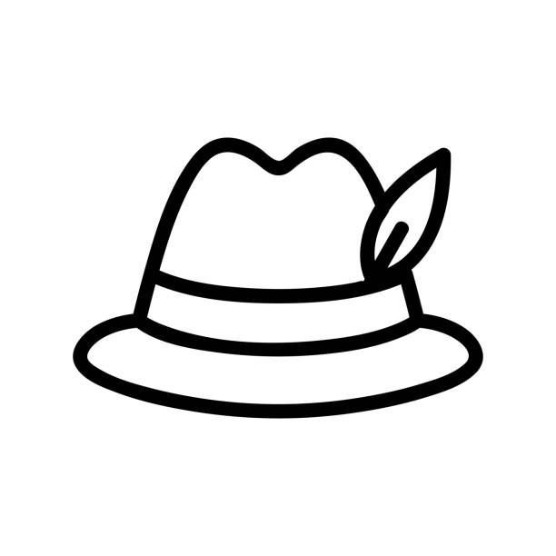illustrations, cliparts, dessins animés et icônes de vecteur d'icône de chapeau. illustration d'illustration isolée de symbole de contour - abstract mirror
