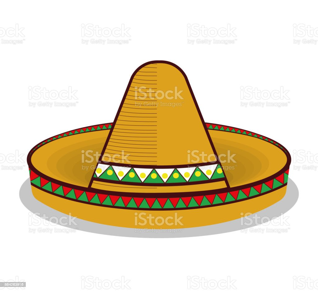 hat mexican symbol graphic royalty-free hat mexican symbol graphic stock vector art & more images of art