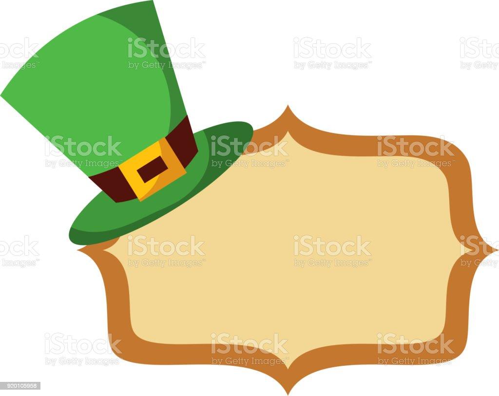 b634e0b7 hat of leprechaun with vintage board blank royalty-free hat of leprechaun  with vintage board