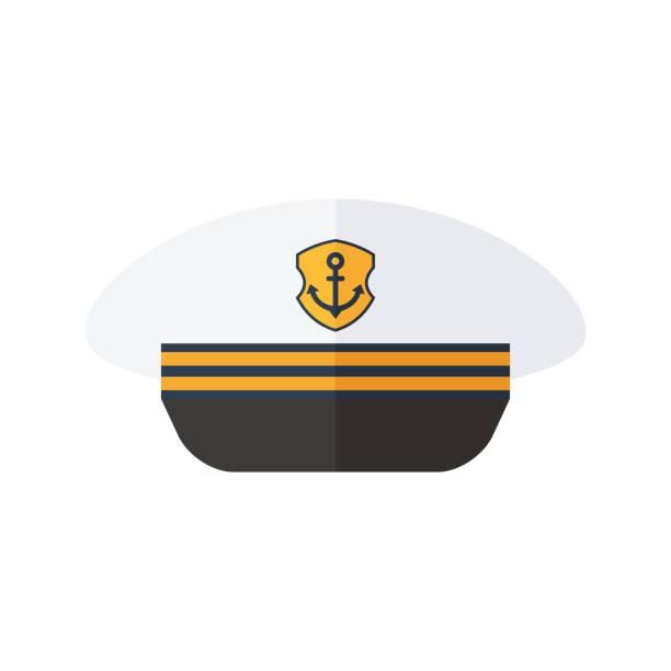 hut des kapitäns - matrosenmütze stock-grafiken, -clipart, -cartoons und -symbole