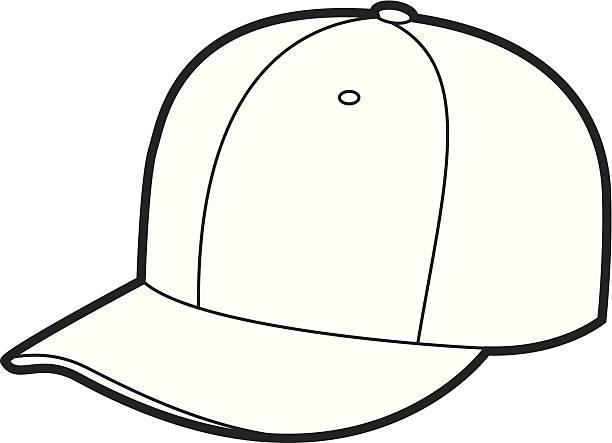 e0fbe3c1056cf9 ... white baseball cap videos, · White Cap vector art illustration. Hat  outline vector art illustration