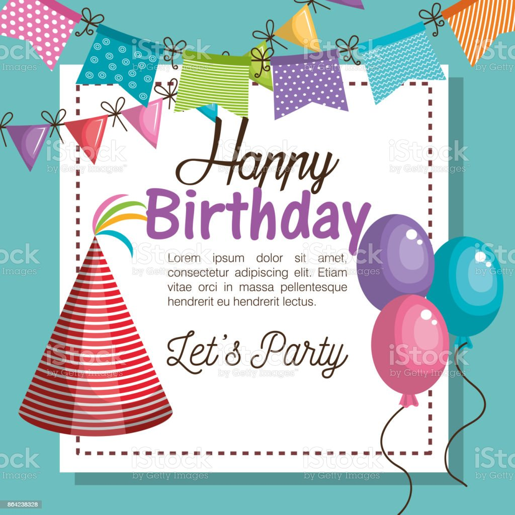 hat red happy birthday party graphic royalty-free hat red happy birthday party graphic stock vector art & more images of anniversary