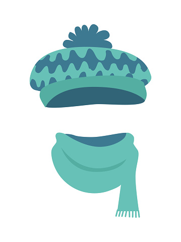 Hat. Stylish Warm Winter Headwear with Many Waves