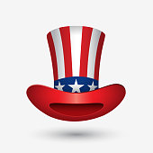 Hat with flat of United States of America