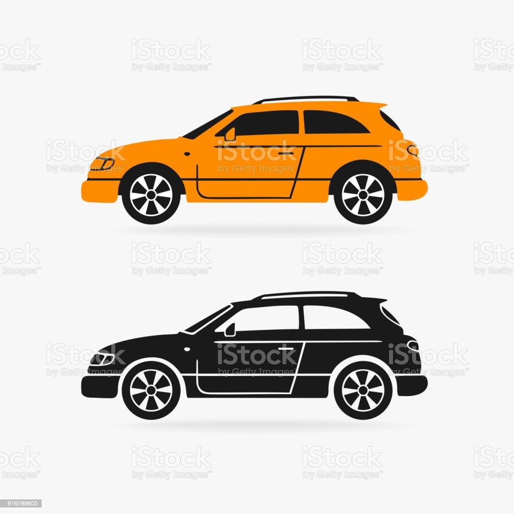 Hatchback car vector symbol illustration