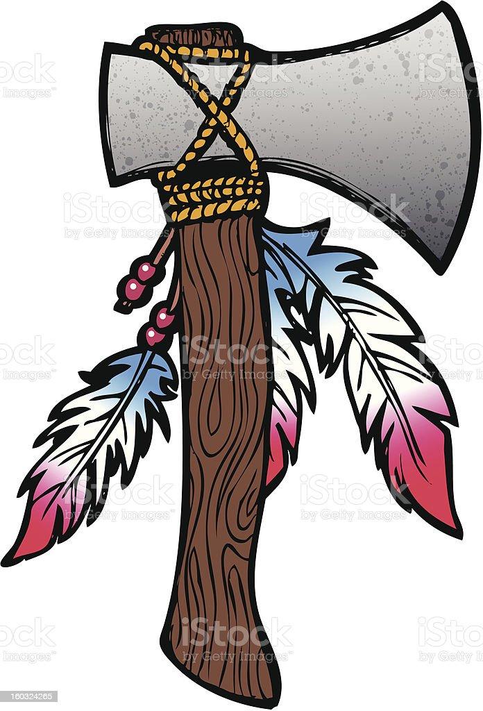 Hatchet illustration royalty-free stock vector art