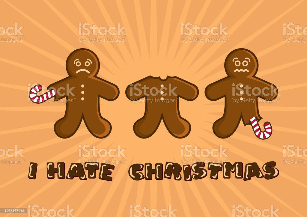 I Hate Christmas.I Hate Christmas Vector Illustration Stock Illustration