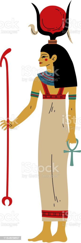 Hathor Goddes Of Love Beauty And Art Symbol Of Ancient Egyptian