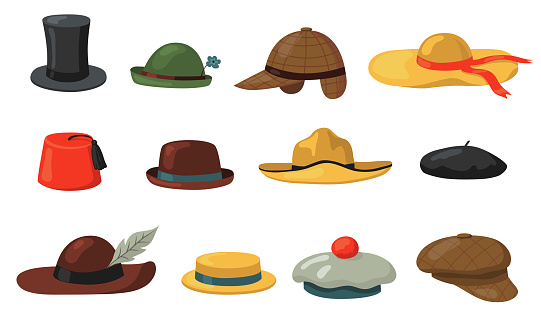 Hats and caps set