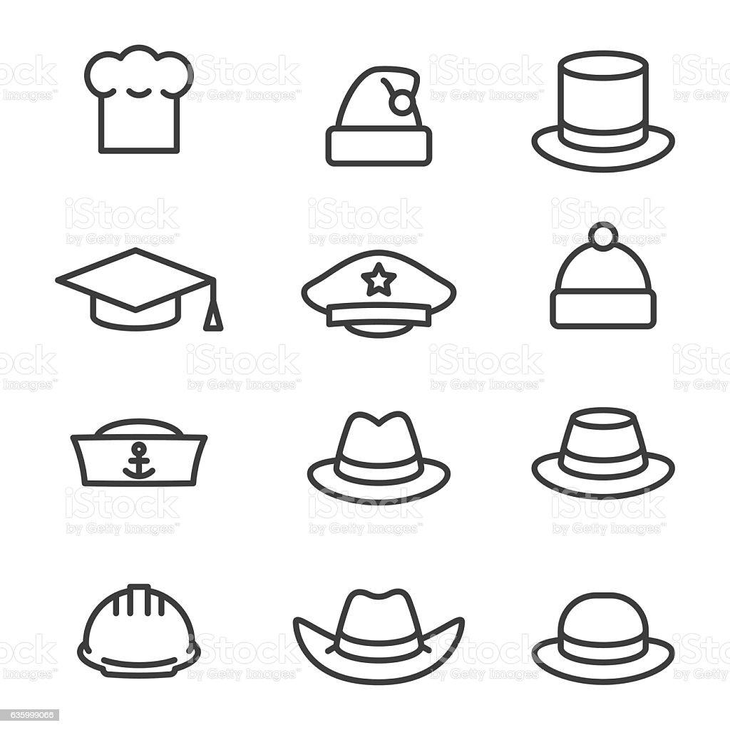 Hats icons set ilustración de hats icons set y más vectores libres de derechos de accesorio personal libre de derechos