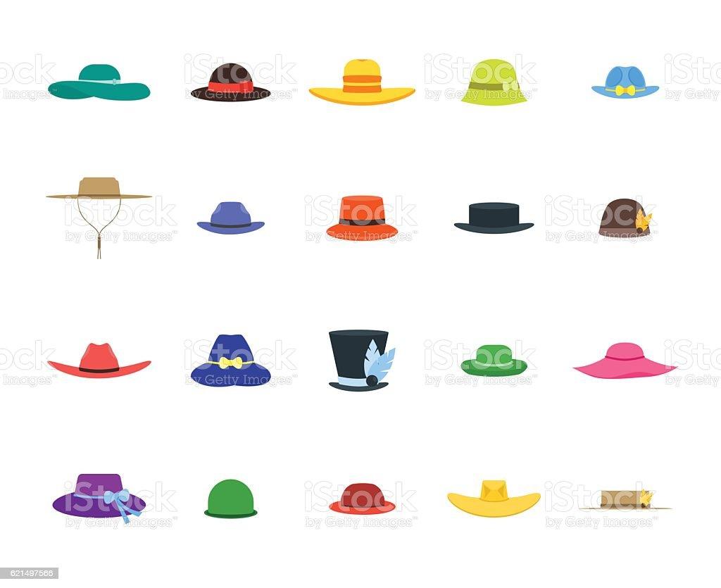 Hats Set Fashion for Men and Women. Vector hats set fashion for men and women vector – cliparts vectoriels et plus d'images de accessoire libre de droits