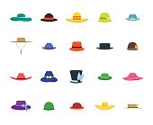 Hats Set Fashion for Men and Women. Vector