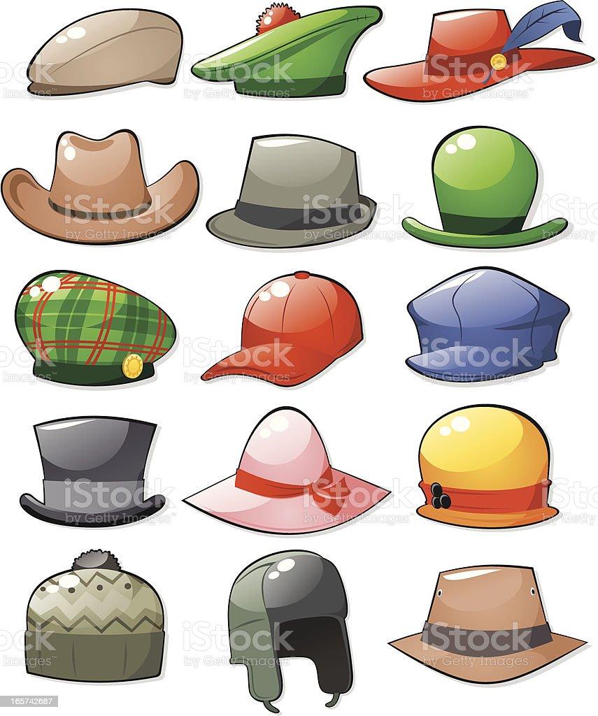 Las HAT de - ilustración de arte vectorial