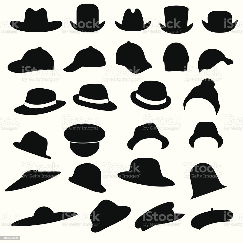 hats vector art illustration