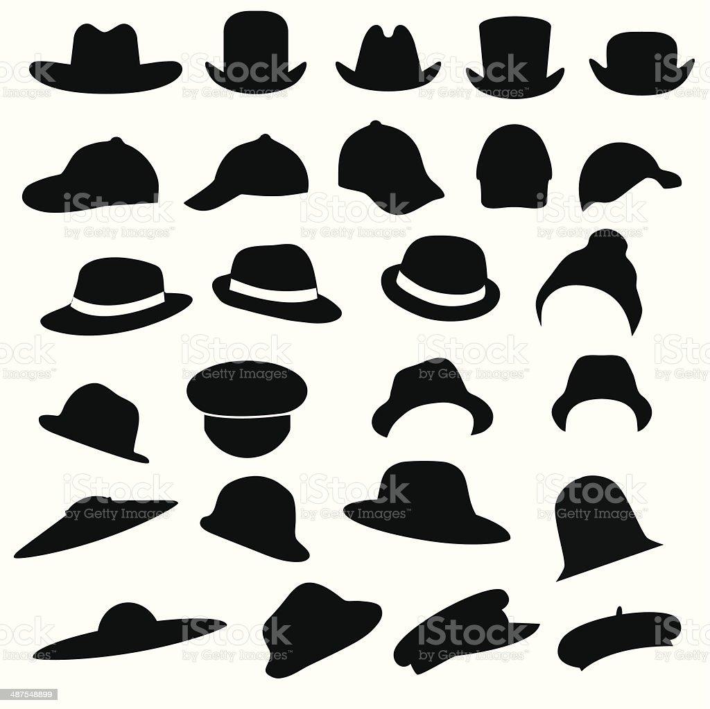 Las HAT - ilustración de arte vectorial