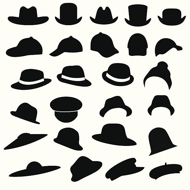 Mützen/Hüte – Vektorgrafik