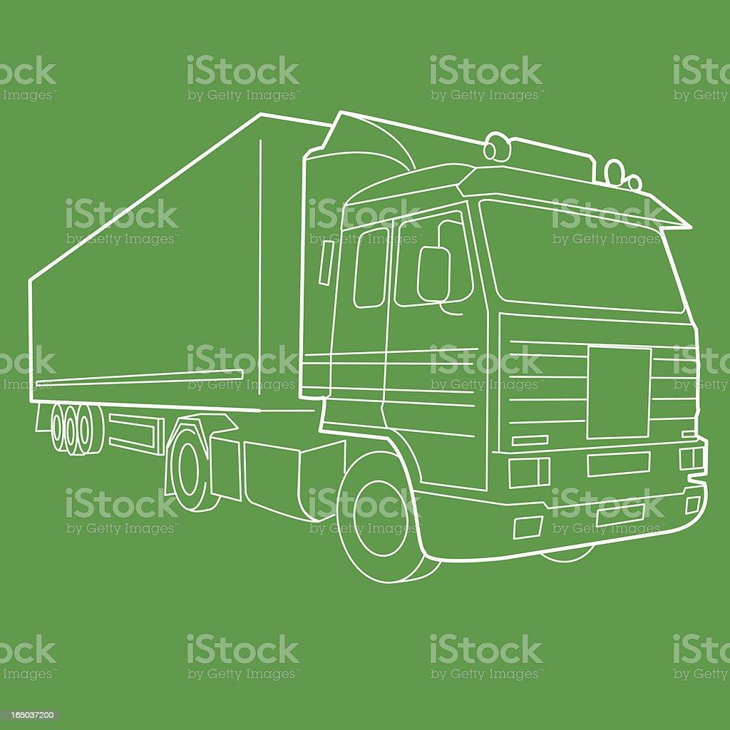 Haulage Truck (Vector) royalty-free stock vector art