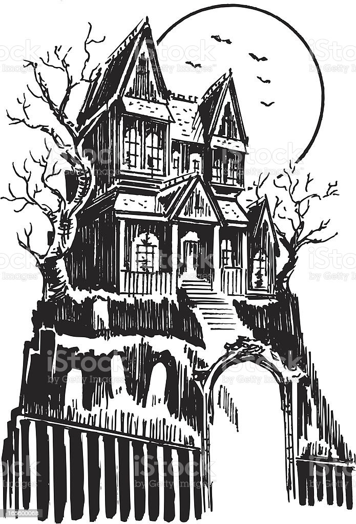 Haunted House Halloween Stock Vector Art Amp More Images Of
