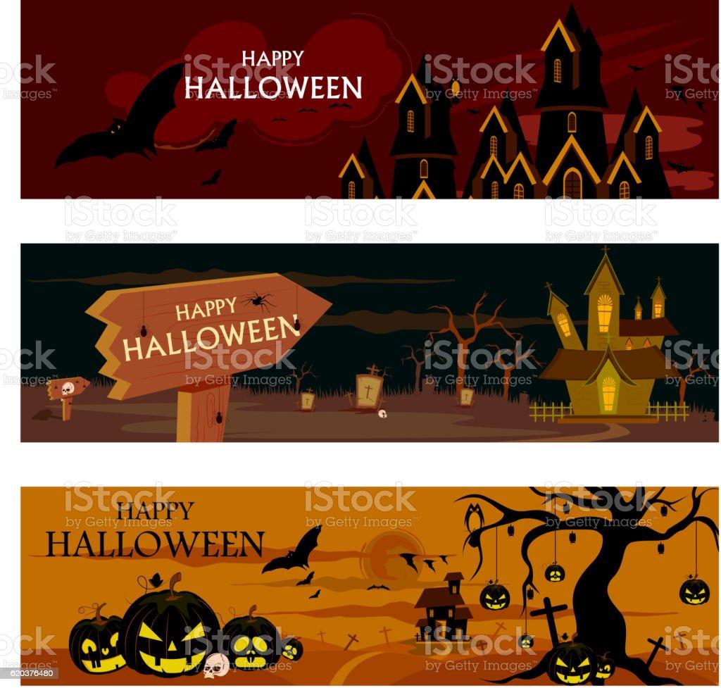 Haunted house in Halloween background haunted house in halloween background - stockowe grafiki wektorowe i więcej obrazów cmentarz royalty-free