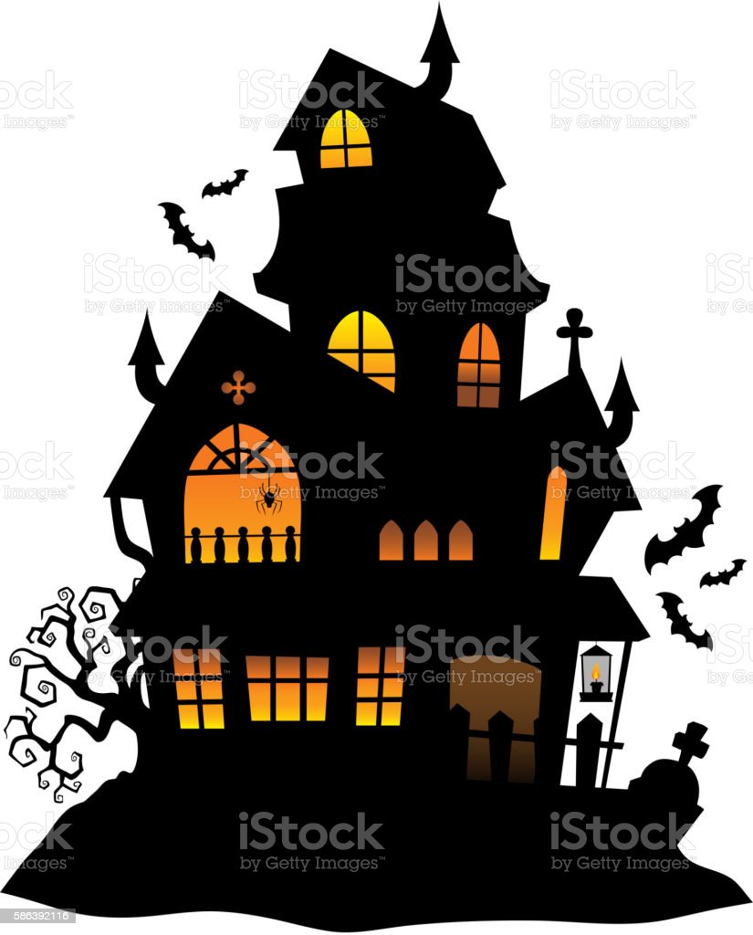 royalty free haunted mansion clip art vector images illustrations rh istockphoto com